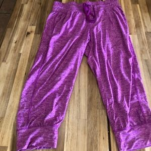 Purple cropped joggers